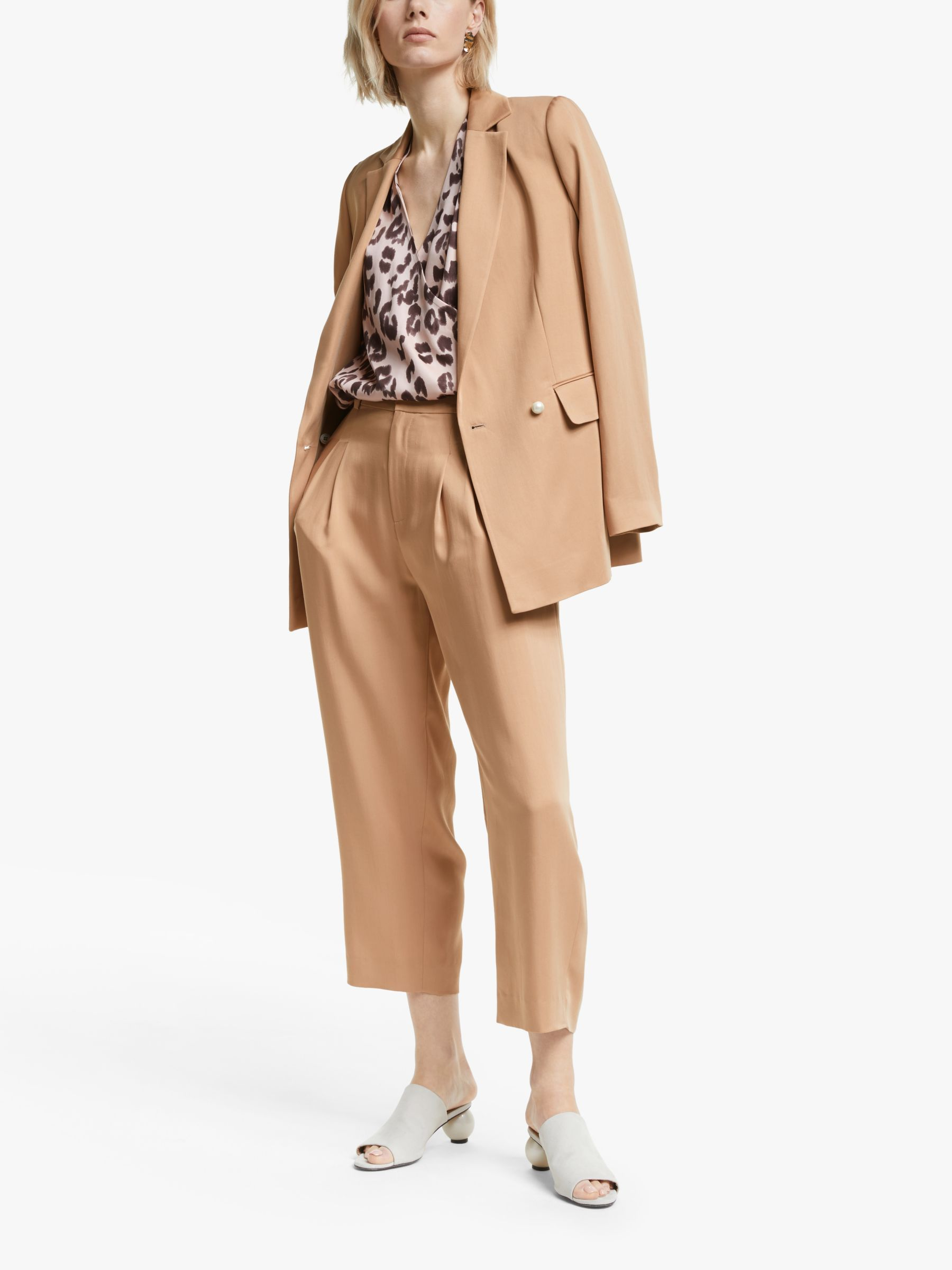 Mother of Pearl Tencel™ Double Breasted Blazer, Camel