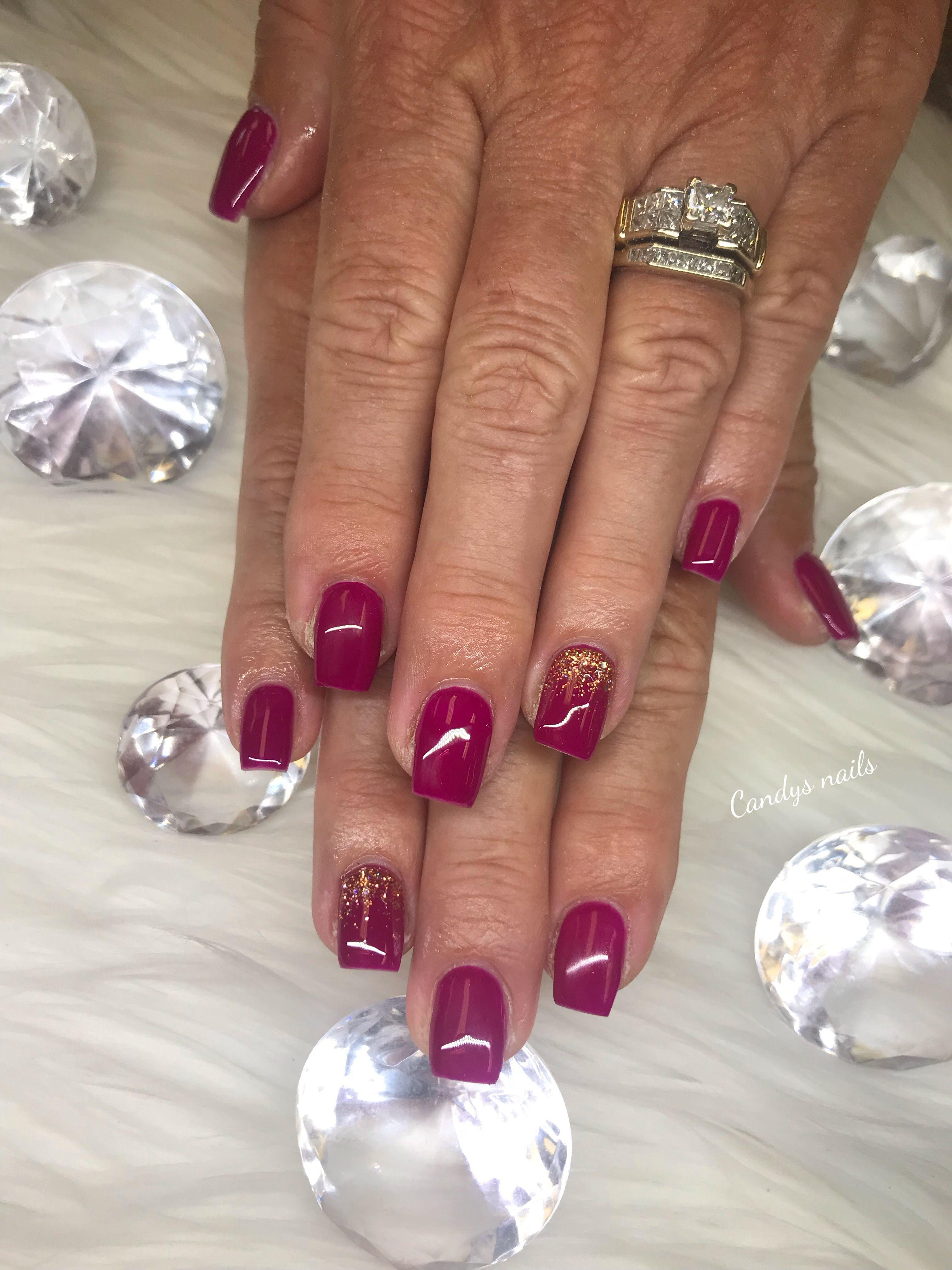 Red Gel Overlay Acrylic Nails Nails Gel Overlay Acrylic Nails