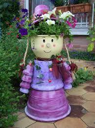 image result for bonhomme en pot de fleur clay dolls. Black Bedroom Furniture Sets. Home Design Ideas