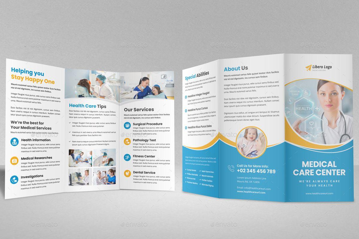 Medical Healthcare Trifold Brochure v1 Medical brochure