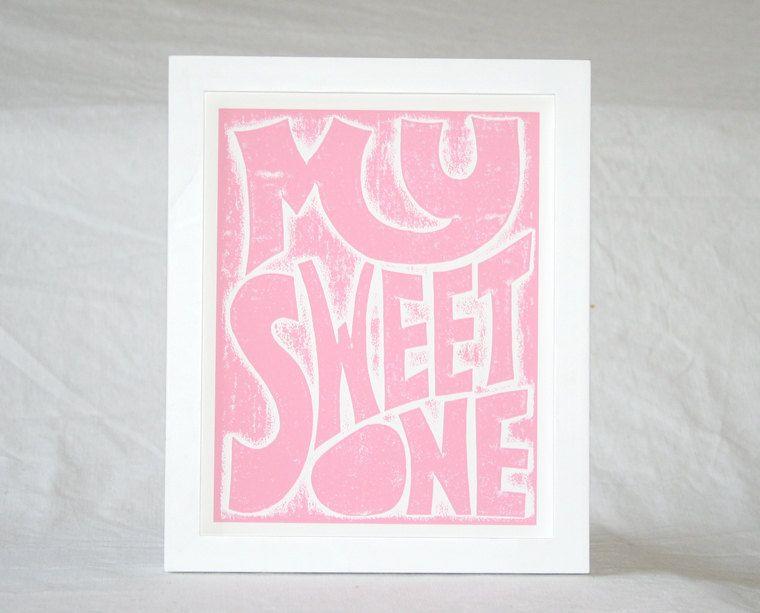 PHISH My Sweet One Song Lyric Typography Poster Print 8x10