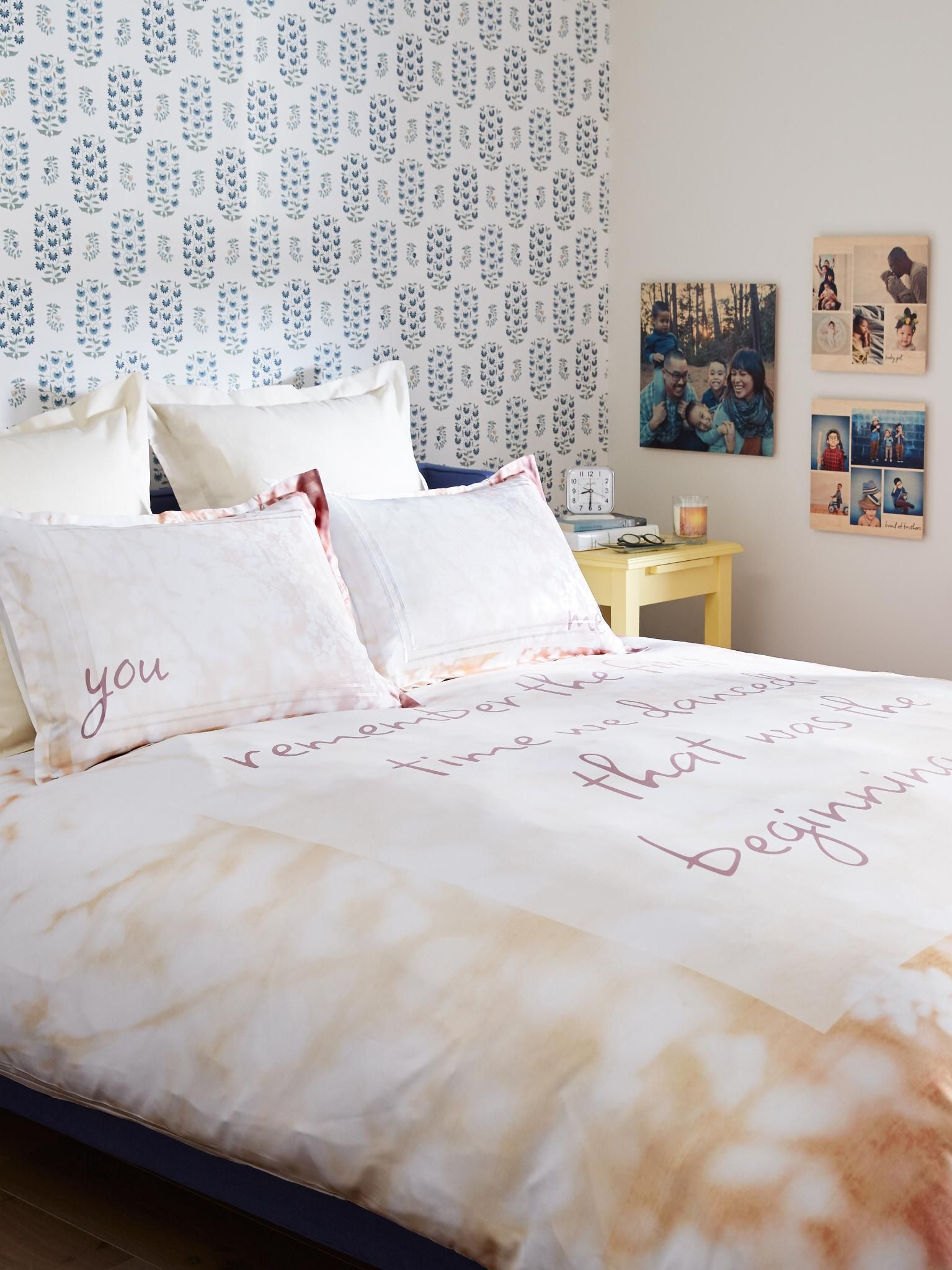 Create custom bedding for twin, queen and king size beds