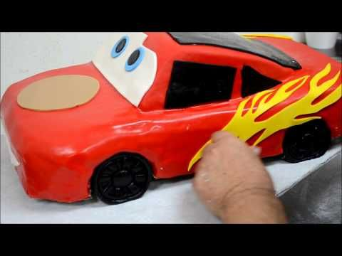 Lightning McQueen Car Shape Cake Decorating Process Formatorta