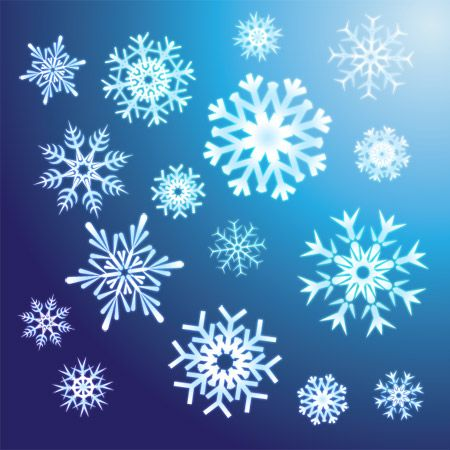 8 free snowflake vectors for your winter designs