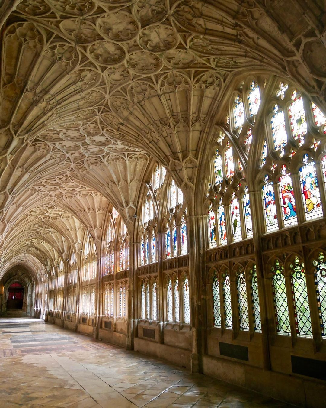 The Cloister Of Gloucester Cathedral Is Probably The Most
