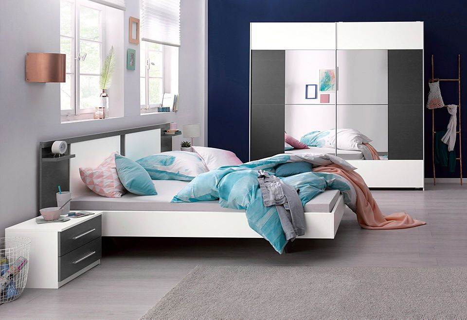 rauch SchlafzimmerSet mit Schwebetürenschrank (4tlg