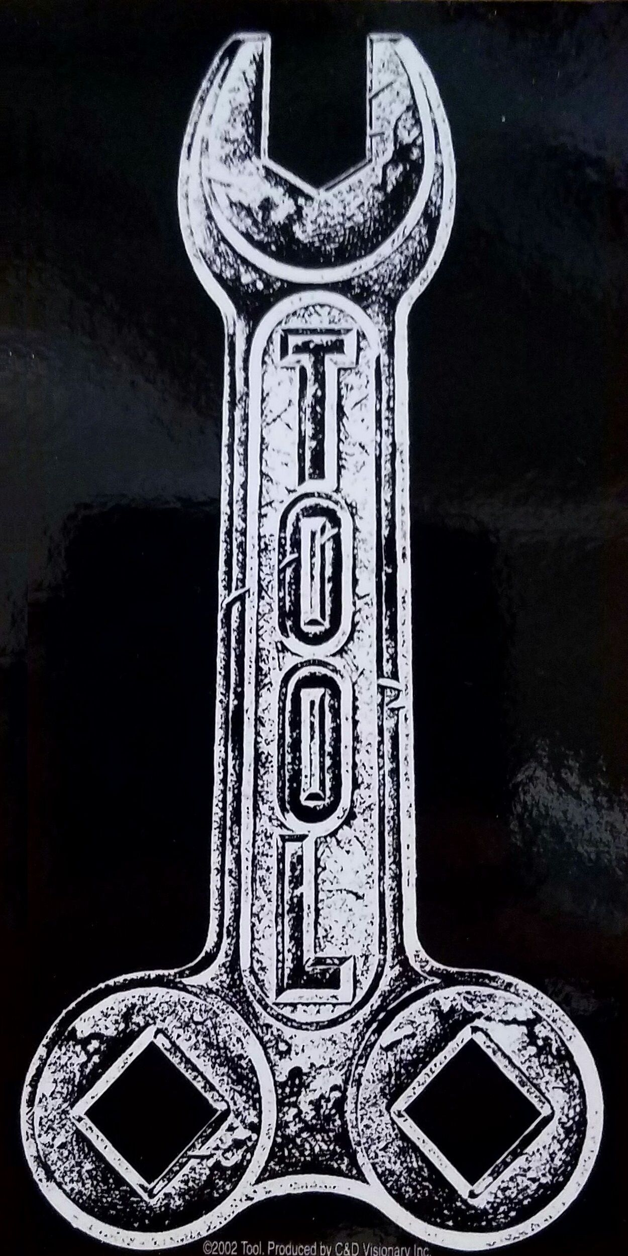 Tool wrench sticker tool