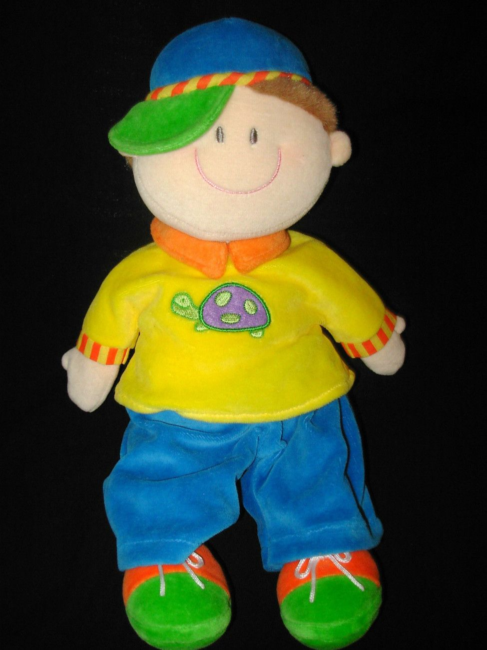 Russ Dollies Boy Soft Doll Yellow Shirt Turtle Blue Green Baby Toy ...