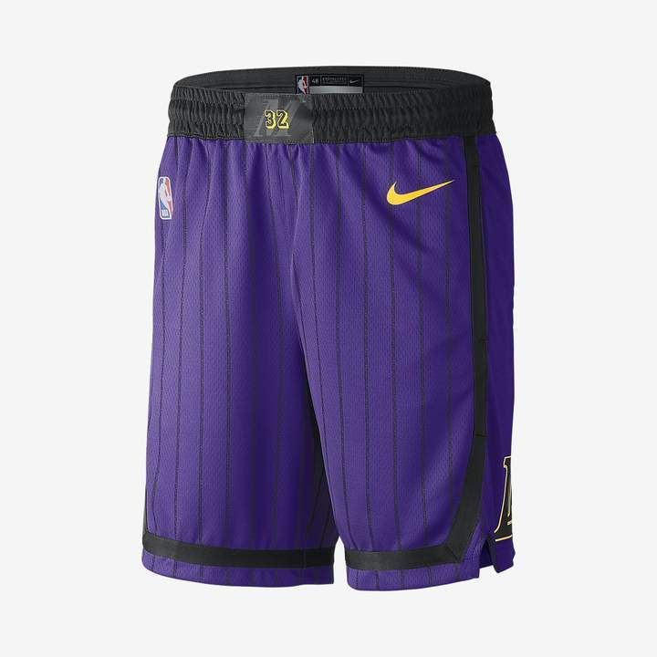 617eb00e1 Nike Los Angeles Lakers City Edition Swingman Men s NBA Shorts ...