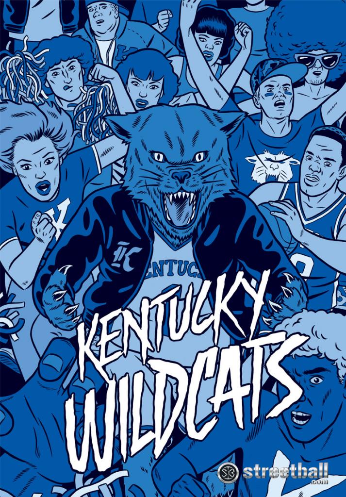 Cartoon Wildcat U Of Kentucky Wildcats IOS Wallpaper