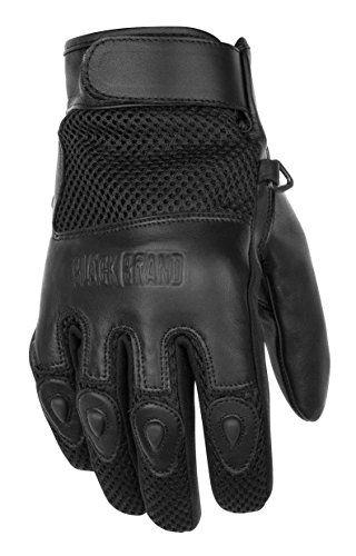 Black Brand Men S Leather Mesh Challenge Motorcycle Glove Http