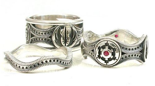 Star Wars Wedding Ring Set by SwankMetalsmithing