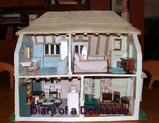 I Couldn T Resist This Vintage Colonial Dollhouse From The: I Bought A Franklin Mint Rose Cottage Dollhouse