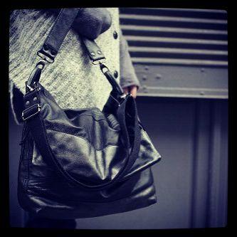 #bag #leather #messenger #black #boyish #matieresareflexion