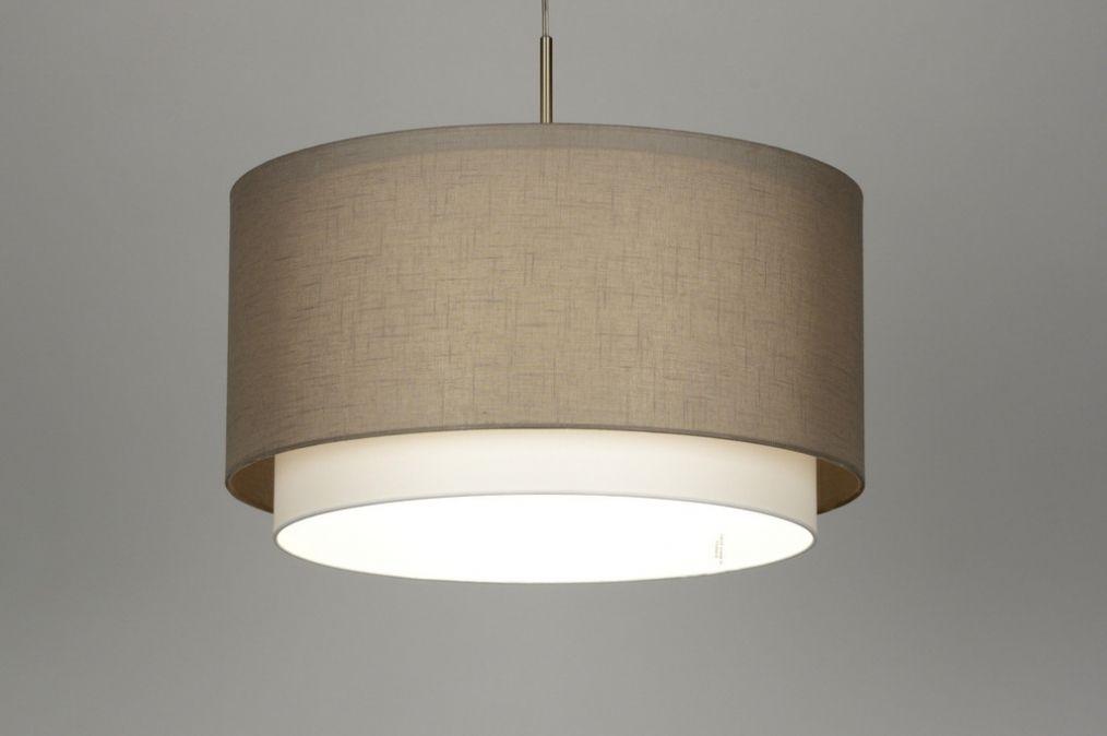 Galiläa Beleuchtung Moderne Pendelleuchte Modernes: Haengeleuchte 47cm: Modern, Stahl Rostbestaendig, Stoff