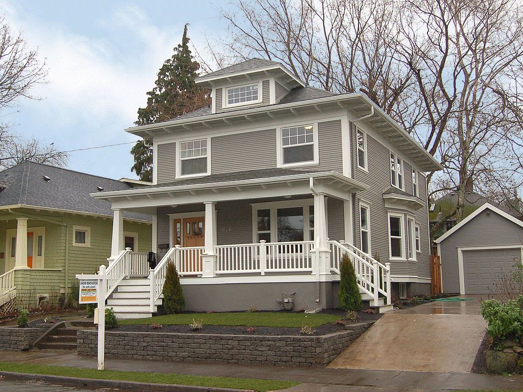 Exterior of homes designs retaining walls porch and window for Homes in america