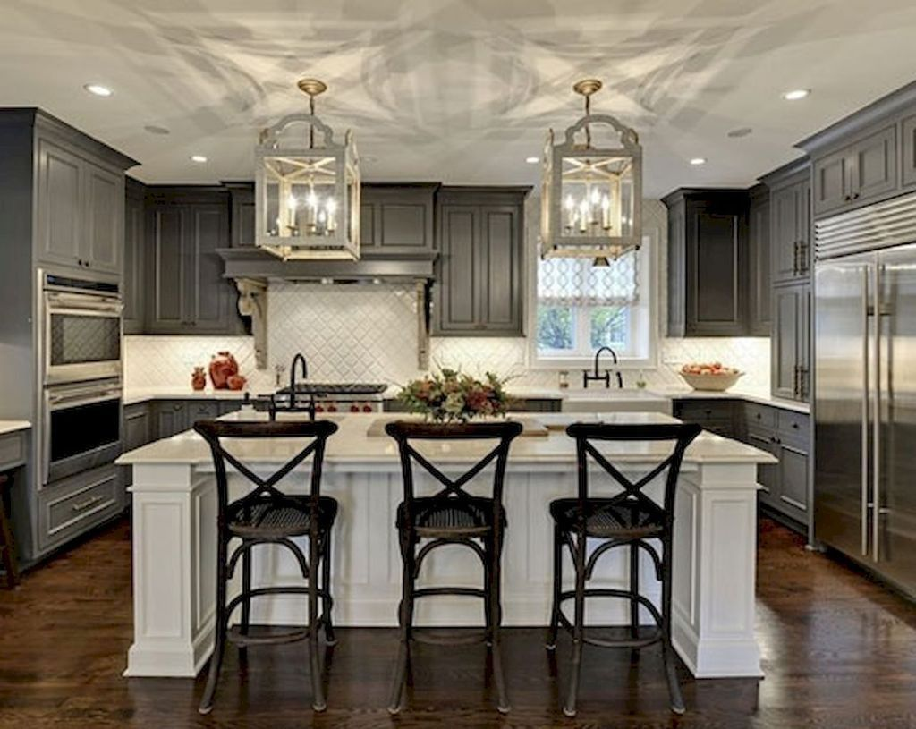 Awesome 50 Beautiful Farmhouse Kitchen Makeover Ideas