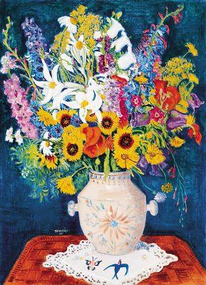 Geza Voros 1897 1957 Hungarian Artist Still Lifes And Flowers Art Flower Painting Mediums Of Art