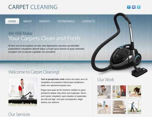 Carpet Cleaning Html5 Website Free Website Templates