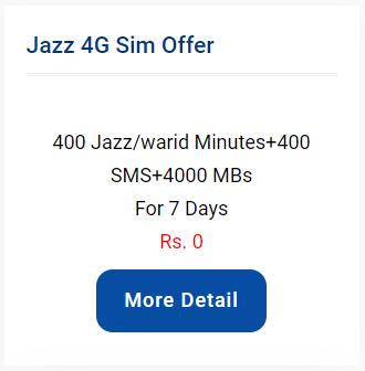 Jazz 4g Sim Offer In 2020 Jazz Sms Offer