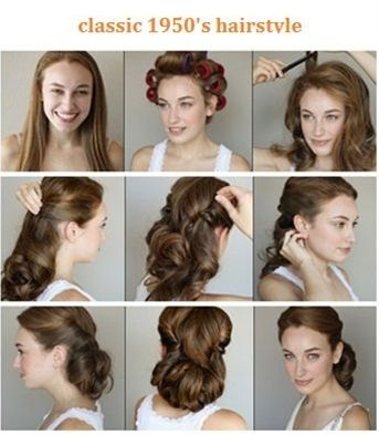 1 Start This Look By Adding Some Mouse To Wet Hair And Blow Dry 2 Set Hair In Vel Vintage Hairstyles For Long Hair Vintage Hairstyles Tutorial Hair Tutorial