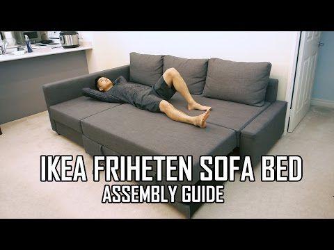 Ikea Friheten Sofa Bed Assembly Guide Youtube Friheten Sofa