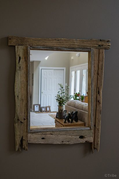 Barn Board Mirror Rustic Works Frames Pinterest