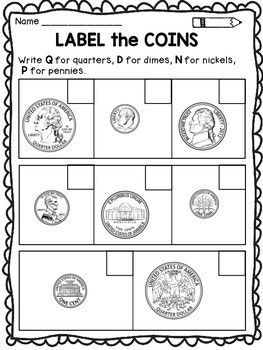 money coloring pages for kindergarten   Money Worksheets for Kindergarten and First Grade   Money ...