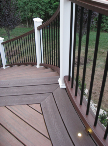 Composite Lumber Deck Designs Backyard Composite Decking Deck Prices