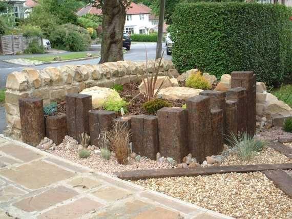 Scott's railway sleeper raised bed | Garden edging ...