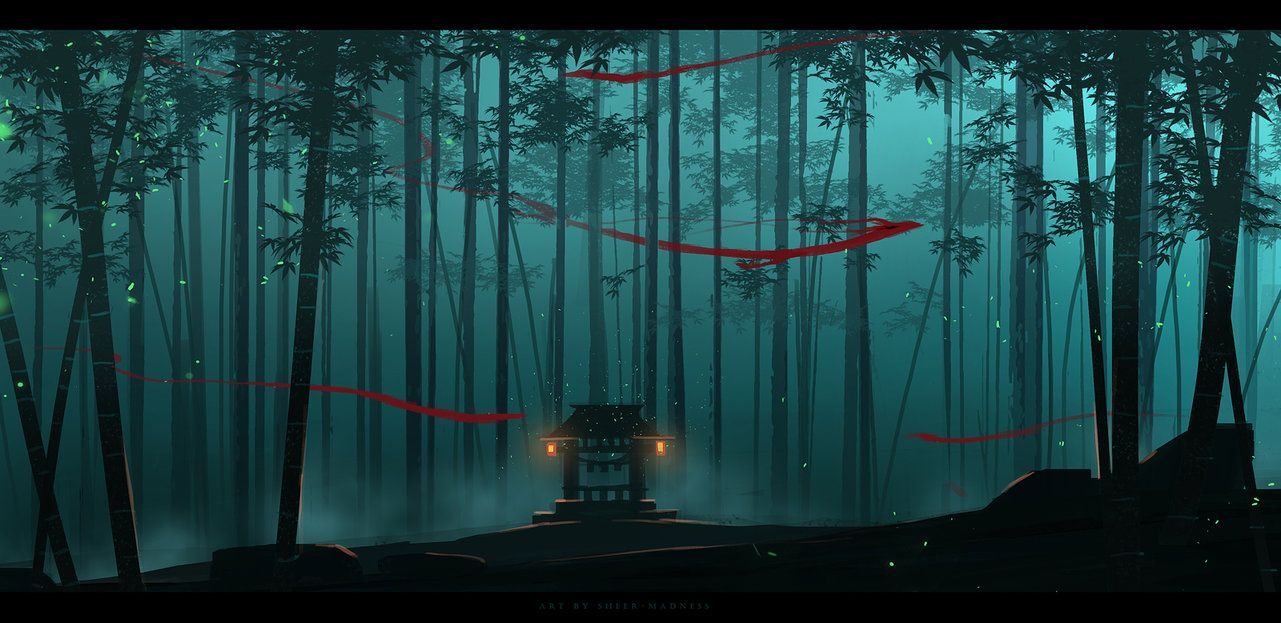 bamboo forest spirits by sheer-madness