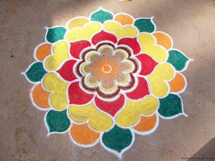 simple easy rangoli designs #rangolidesigns | Rangoli ...