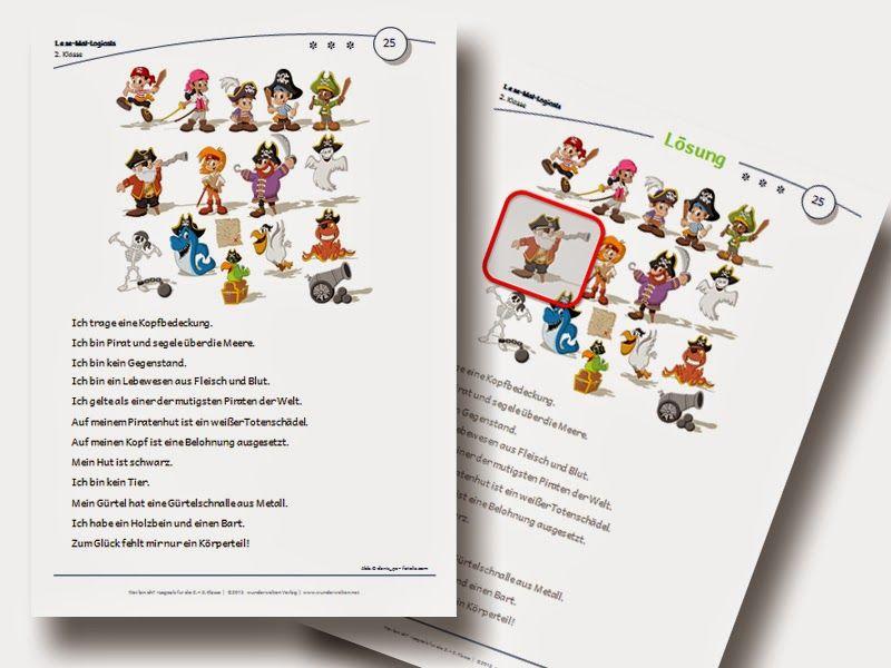 Logicals Grundschule Klasse 2-3 Leserätsel Material | deutsch ...