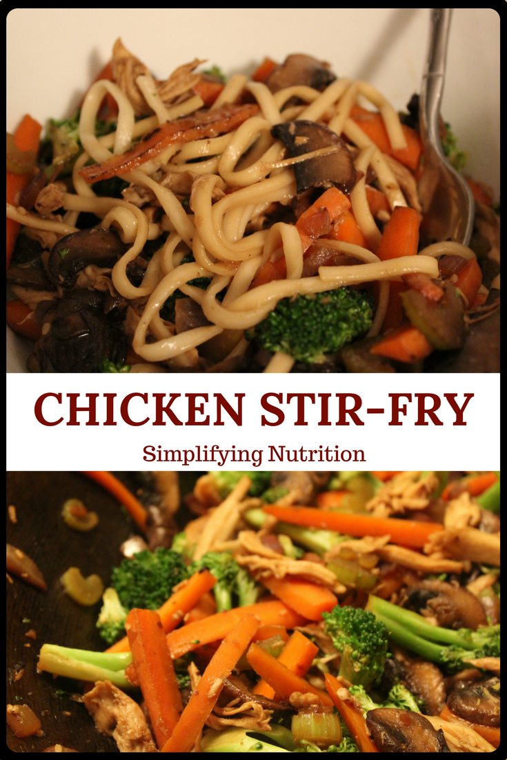 A simple, quick, and healthy recipe. Stir-fry is a weekly staple in our home. You can add a variety of veggies, make it vegetarian, vegan, or gluten-free. Kaitlyn @ SimplifyingNutrition.com