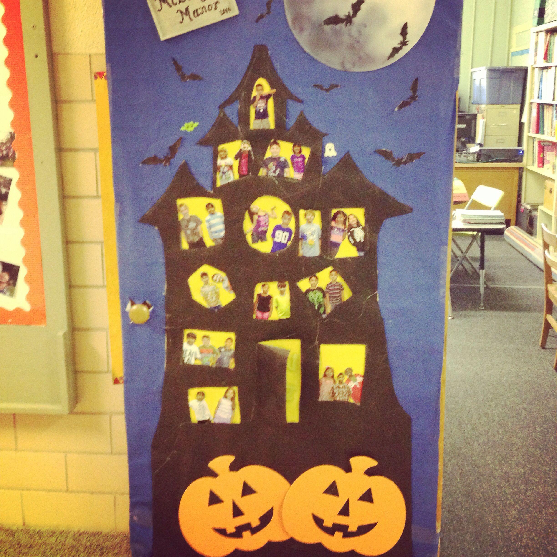 October Classroom Decor ~ October door decoration bulletin board
