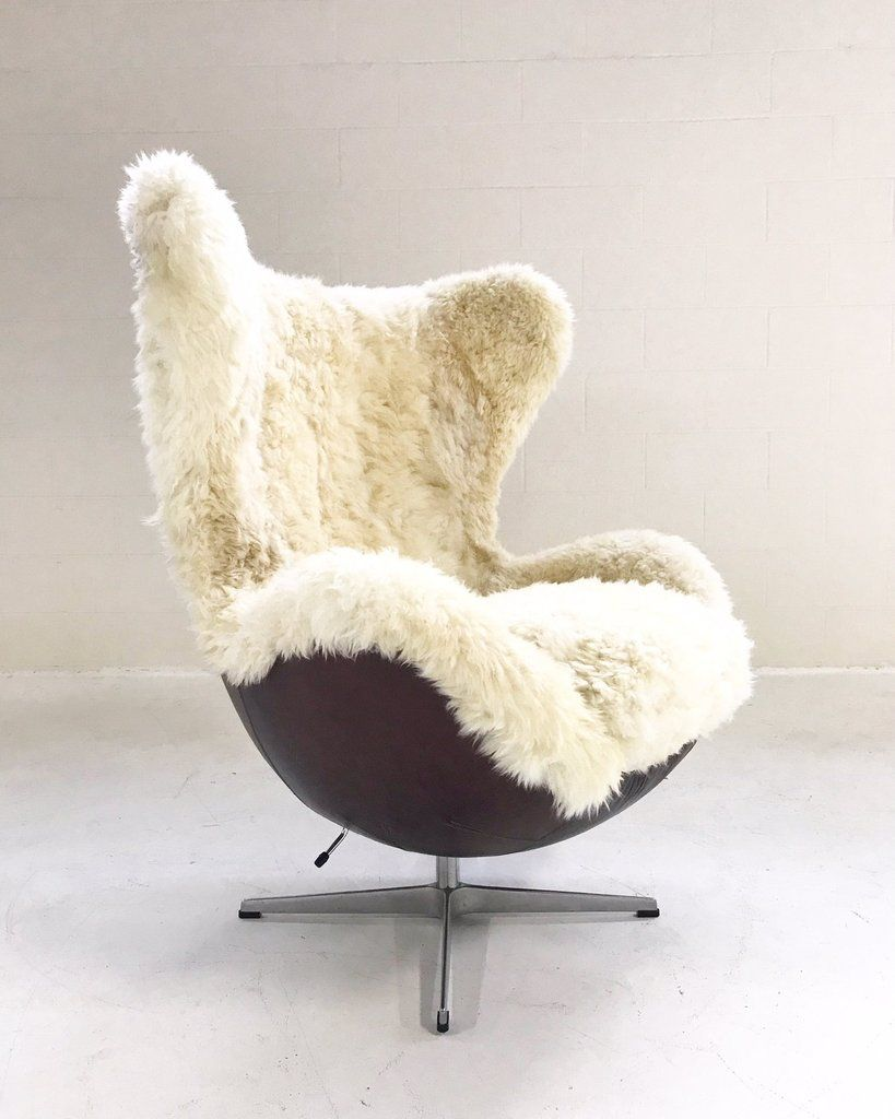 Egg Chair In Brazilian Sheepskin And Leather Egg Chair Chair Recycled Plastic Adirondack Chairs