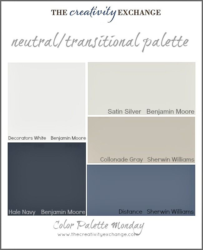 Color palette of neutral transitional paint colors color for Best neutral yellow paint colors