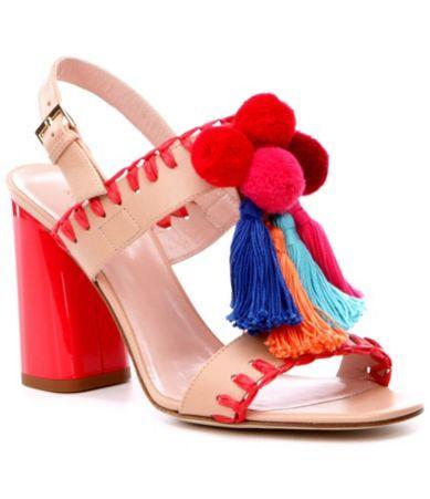 d243cf335842 Shop for kate spade new york Central Tassled Pom Pom Dress Sandals ...