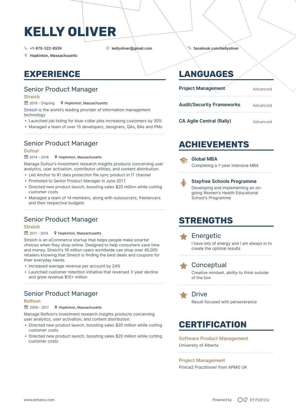 The ultimate 2019 guide for Senior Product Manager resume