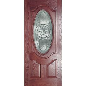 Benchmark by Therma-Tru 36-in Oval Lite Decorative Mahogany Inswing Entry Door  sc 1 st  Pinterest & Benchmark by Therma-Tru 36-in Oval Lite Decorative Mahogany ... pezcame.com