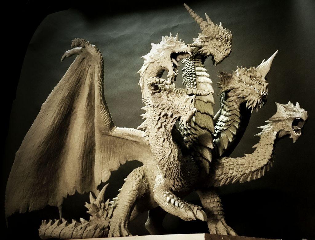 5 headed dragon statue WIP by FritoFrito.deviantart.com on ... - photo#21