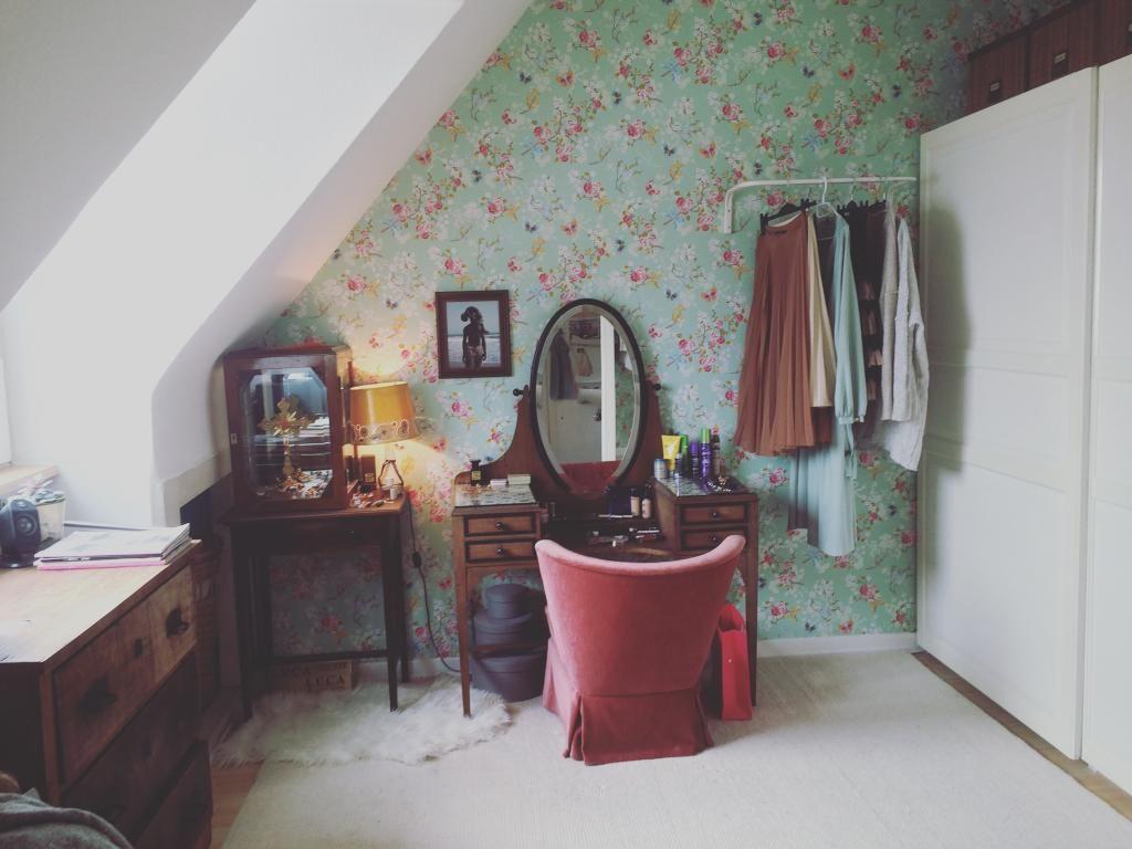 ankleideecke im zimmer einrichten: schminktisch und möbel aus, Schlafzimmer entwurf