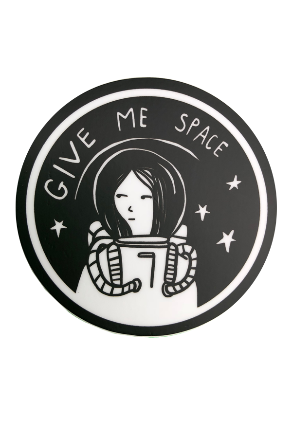 Give Me Space Sticker Funny Laptop Stickers Stickers Black Stickers