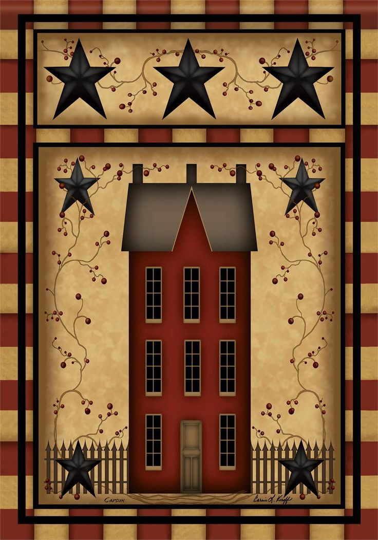 Country primitive house clip art bing images americana for Primitive home designs