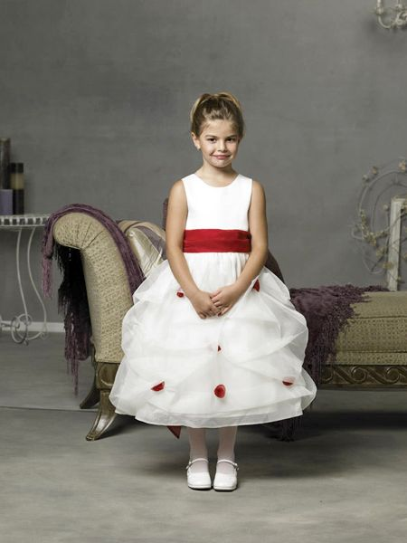 White and red dresses for girl