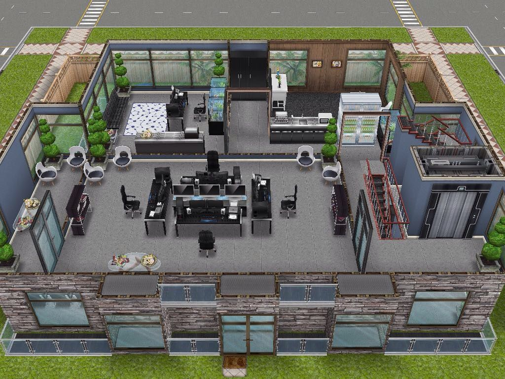 house 96 office building level 2 sims simsfreeplay