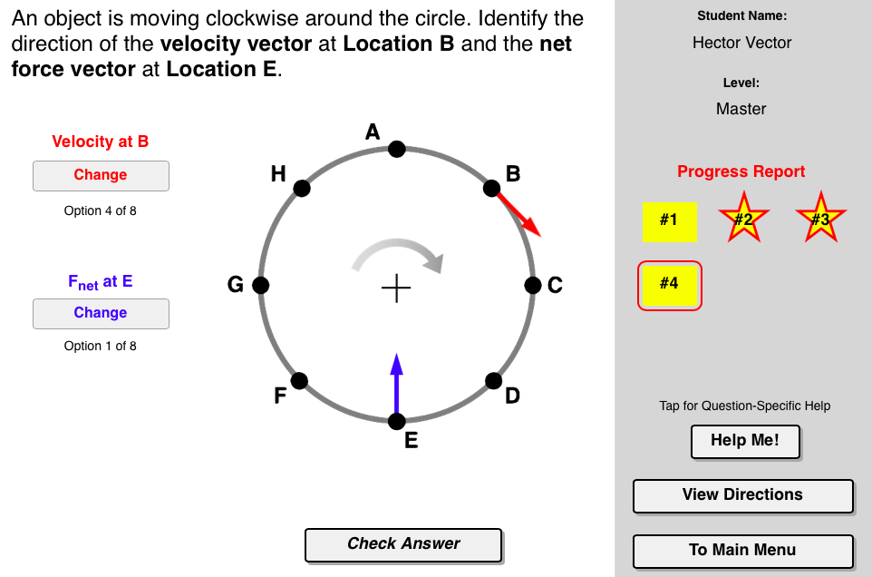 Circular Logic Concept Builder provides learners with plenty of practice  recognizing the direction of the velocity vector, accel…   Logic, Progress  report, CircularPinterest