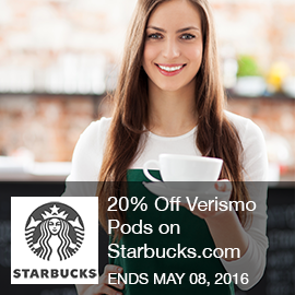 Starbucks Coupon 20 Off Verismo Pods on