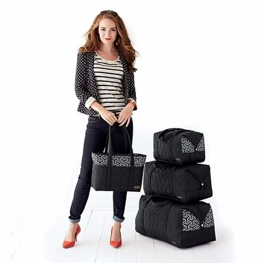 cinda b, Jet Set Black Collection perfect for my Summer Vacation @organizingstore