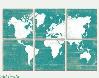 World map wall art traveler gift wooden wall map wood panel extra large vintage world map wall art rustic world by rightgrain gumiabroncs Choice Image